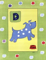 D is for Dog Fine Art Print