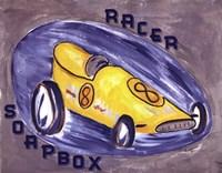 Yellow Race Car Fine Art Print