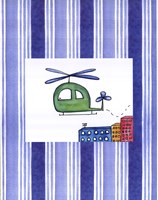 """Helicopter by Serena Bowman - 11"""" x 14"""", FulcrumGallery.com brand"""
