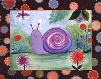 "Patchwork Snail by Serena Bowman - 14"" x 11"""