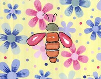 Funky Flower Bee Fine Art Print