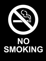 No Smoking - Black and White Fine Art Print
