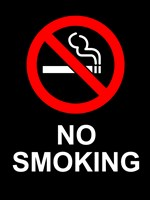 No Smoking - Black Fine Art Print