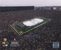 Michigan Stadium Michigan Wolverines Vs. Michigan St. Spartans Fine Art Print