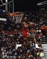 Michael Jordan 1987 Slam Dunk Contest Fine Art Print