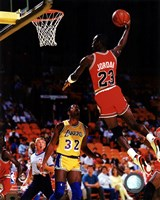 Michael Jordan Action Fine Art Print