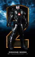 Iron Man 2 Gray Armor Close Up Wall Poster
