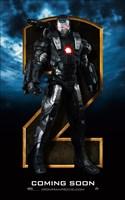 """Iron Man 2 Gray Armor Close Up - 11"""" x 17"""""""