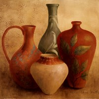 "Decorative Vessel Still Life II detail by Lanie Loreth - 24"" x 24"""