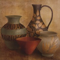 "Decorative Vessel Still Life I detail by Lanie Loreth - 24"" x 24"""