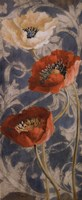 Poppies de Bleu II Fine Art Print