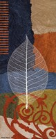 "Blue Leaf I by Michael Maron - 8"" x 20"""