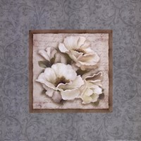 "Silversage Flower II by Elizabeth Medley - 18"" x 18"""