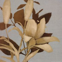 Foliage on Teal I Detail
