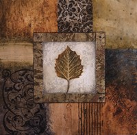 """Fallen Leaf III (yellow) by Michael Marcon - 18"""" x 18"""""""
