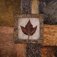 "Fallen Leaf I (red) by Michael Marcon - 18"" x 18"""