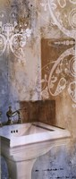 "Bath Room & Ornamenrs II by Patricia Pinto - 8"" x 20"""