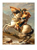 Napoleon (1769-1821) Crossing the Alps at the St Bernard Pass Framed Print