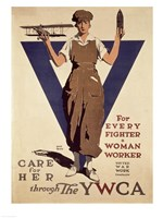 For Every Fighter a Woman Worker YWCA Fine Art Print