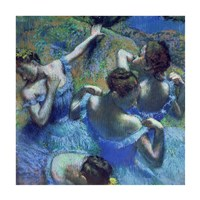 Blue Dancers, c.1899 Fine Art Print