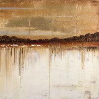 """Melting Gold I (Square) by Patricia Pinto - 27"""" x 27"""""""