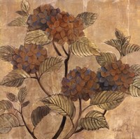 "Golden Hydrangea by Albena Hristova - 27"" x 27"""