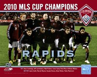 """The Colorado Rapids 2010 MLS Cup Champions Team Photo with Overlay - 10"""" x 8"""""""