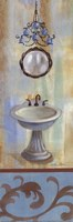 French Bathroom in Blue II Fine Art Print