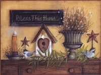 Bless This Home (shelf) Fine Art Print