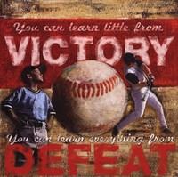 Victory- Baseball Framed Print