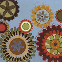 "Zinnia Awesome I - mini by Jeni Lee - 12"" x 12"""
