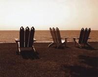 Adirondack Chairs II - mini Fine Art Print