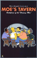 The Simpsons Moe's Tavern Fine Art Print