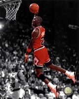 Michael Jordan 1990 Spotlight Action Fine Art Print