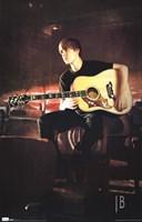 Justin Bieber - Guitar Framed Print