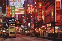 Hong Kong Neon Wall Poster