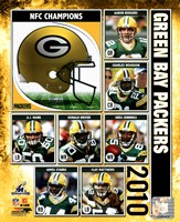 """Green Bay Packers 2010 NFC Championship Composite - 8"""" x 10"""""""