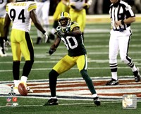 """Donald Driver Action from Super Bowl XLV - 10"""" x 8"""""""