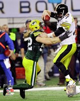 Clay Matthews Action from Super Bowl XLV Fine Art Print