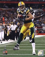 Jordy Nelson Touchdown from Super Bowl XLV Fine Art Print