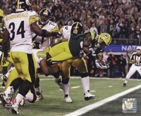Nick Collins TD from Super Bowl XLV Fine Art Print