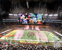 Green Bay Packers Celebrate Super Bowl XLV at Cowboys Stadium Fine Art Print