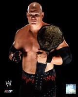 Kane 2010 Posed with Championship Belt Fine Art Print