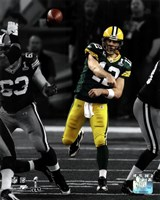 Aaron Rodgers Spotlight Action from Super Bowl XLV Fine Art Print