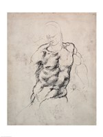 Figure Study by Michelangelo Buonarroti - various sizes