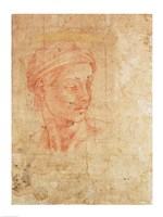 Study of a Head by Michelangelo Buonarroti - various sizes