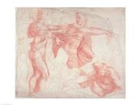 Studies of Male Nudes by Michelangelo Buonarroti - various sizes