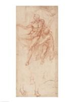 Figure Studies by Michelangelo Buonarroti - various sizes
