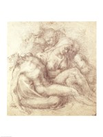 Figures Study for the Lamentation Over the Dead Christ, 1530 by Michelangelo Buonarroti, 1530 - various sizes