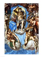 Christ, detail from 'The Last Judgement', in the Sistine Chapel Fine Art Print